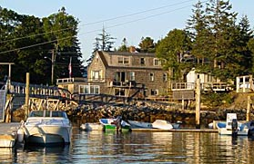 Working Harbor in Southwest Harbor, Maine.