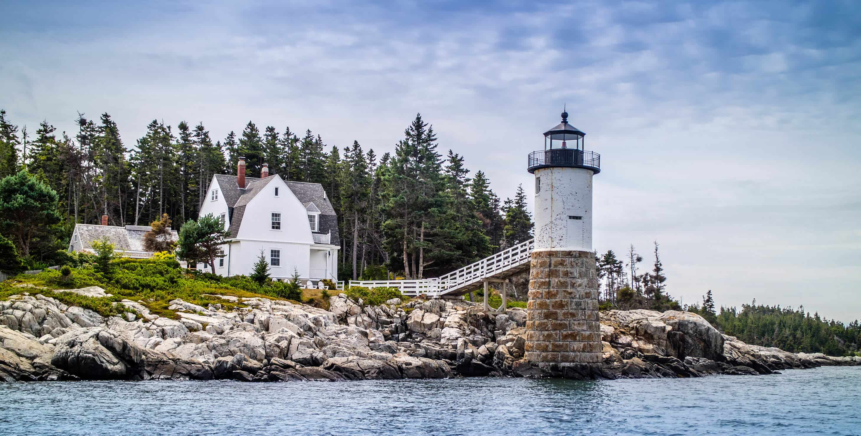 Point Robinson Lighthouse in Acadia National Park, Maine