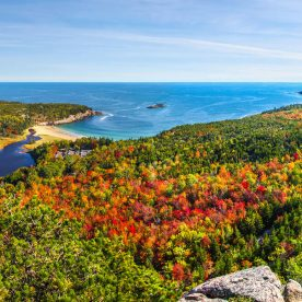fall view of Acadia National Park