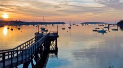 sunset view from BowSprit suite in Maine