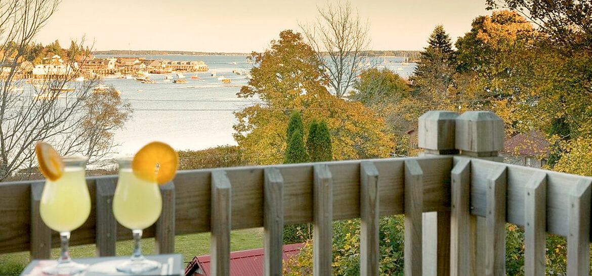 View from private deck at Maine vacation condo