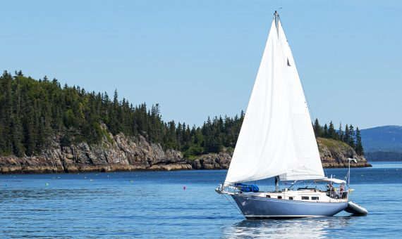sail boat on Maine coast
